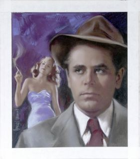 Original Published Art Glenn Ford Filmfax Cover 95 2003 Actor
