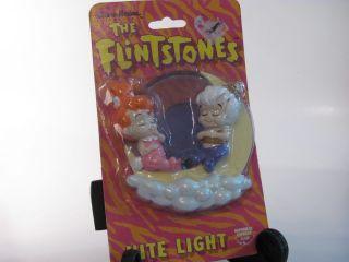 Hanna Barbera Flintstones Pebbles and Bam Bam Nite Lite 1994 NOS NIP