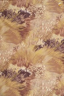 Quilt Gate Fabric Grassy Meadow in Latte w Met Gold