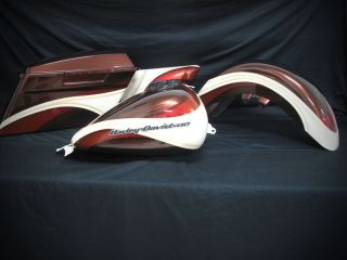 harley davidson roadking custom paint set tank fenders painted