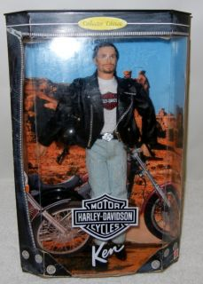 Barbie Doll Collector Edition Ken 1998 Harley Davidson Motorcycle