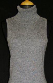BCBG MAX AZRIA Gray Knit Turtleneck Sweater Dress M NEW NWT Angora Bl