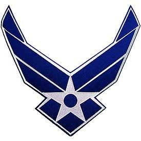 USAF Air Force Hap Arnold Wings Large Back Jacket Patch 12 x 13 Inches