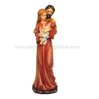 Christianity Holy Family St Joseph Virgin Mary and Baby Jesus Figurine