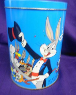 Happy Birthday 50th Anniversary Bugs Bunny Tin Canister