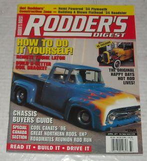 April 1997 Rodders Digest Auto Car Magazine Happy Days Rod