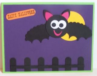 Stampin Up Handmade Greeting Card Halloween Bat PY Lot