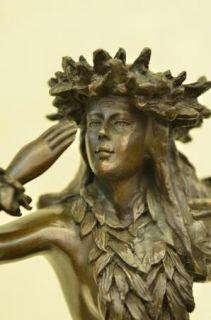 Bronze Hula Girl Dancer Hawaii Tiki Postcard Statue Art Sculpture