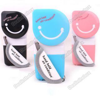 USB Mini Portable Handheld Air Conditioner Cooler Fan 3 Colorblack