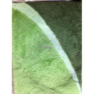 New 3 Piece Bathroom Rug Set Green Bath Rugs Anti Slip Contour Mat