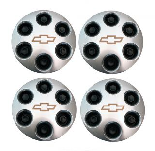 GM OEM CHEVY WHEEL CENTER HUB CAP SET LUG PLASTIC CAPS NUTS BRUSHED