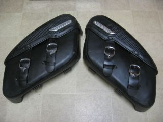 Harley Davidson Hard Body Leather Saddle Bags