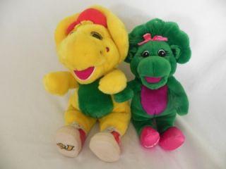 Barney BJ and Singing Baby Bop Plush Toy Stuffed Animal Dolls Vintage