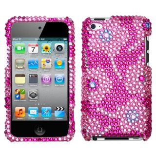 Touch 4th Gen Hard SnapOn Case Cover Flower Candy Bling Diamond