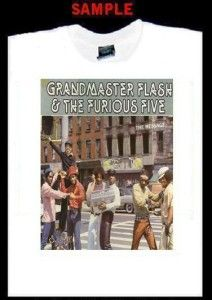 Grandmaster Flash Furious Five Custom T Shirt Tee 5 211