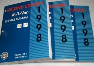 1998 GMC SAFARI & ASTRO VAN ML VAN Service Shop Repair Manual Set 2ND