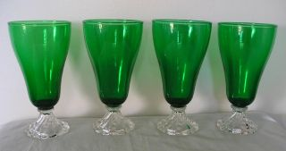 Anchor Hocking Forest Green Boopie Glasses Tumblers