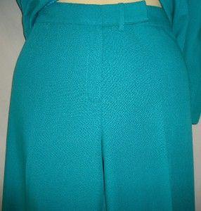 Womens Sag Harbor Green Pantsuit Size 14P Pant Suit