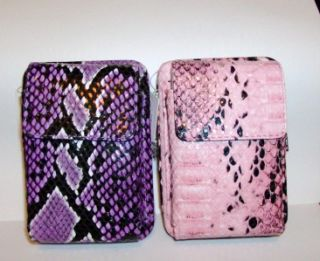 Gorgeous Hard Side Wallet Cell Phone Case Purple or Pink Faux