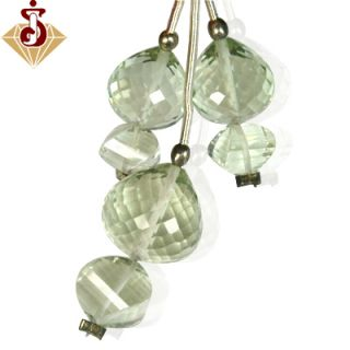 26 cts Natural Top Green Amethyst Drill Fancy Onion Briolette Set