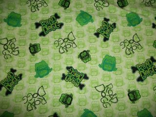World Wrestling Federation ROAD DOGG Green Fabric 3 yards 16 45 wide