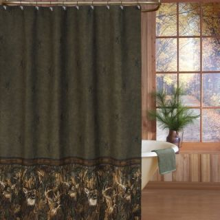 Brown Green Shower Curtain On Popscreen