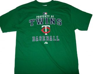 Minnesota Twins Green St Patricks Day Prop T Shirt Med