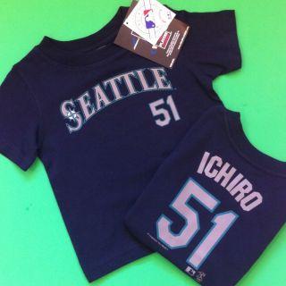 NEW* Seattle Mariners Baseball Ichiro 51 Boys Girls 4T Shirt Gift Cute