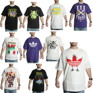 Adidas Graphic T Shirt with Classic Logo Assorted Styles