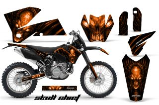 KTM 05 07 XC 05 06 SX Graphics Kit Decals Skull Chief Sco