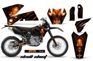 KTM 05 07 XC 05 06 SX Graphics Kit Decals Skull Chief Sco