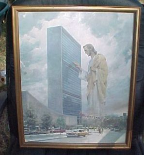 1961 Jesus Prince of Peace Harry Anderson 16x20 Print United Nations