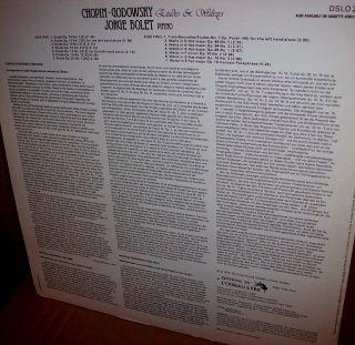 Jorge Bolet 1978 Chopin Godowsky Piano Wks UK Decca Stereo LP Near