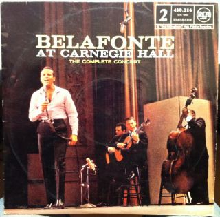 Harry Belafonte at Carnegie Hall LP 430 316 France VG