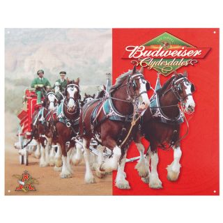 reproduction to your home or business with this Budweiser Beer Sign