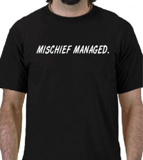 Harry Potter Mischief Managed T Shirt Funny Dumbledore