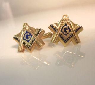 RARE Vintage Antique High Quality Masonic Yellow Gold Enamel Detailed