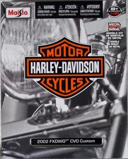 Maisto Harley Davidson 118 2002 FXDWG CVO Custom Diecast Motorcycle