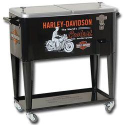 HARLEY DAVIDSON Worlds Coolest Rolling Cooler w/ Bottle Opener HDL