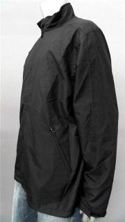 Greg Norman Mens L Front Zipper Windbreaker Black Coat Jacket Designer