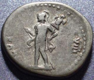 77 78AD Ancient Rome Silver Denarius Vespasian 69 79AD Mars Reverse 12