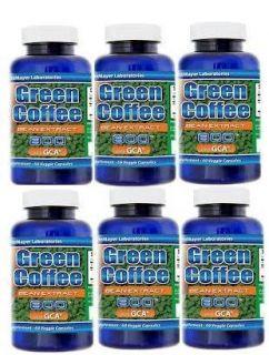 Green Coffee Bean Extract 800mg w 50 Chlorogenic Acid and GCA 360