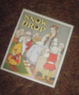 pre Disney Snow White: SNOW DROP, dwarves, wicked queen, full color