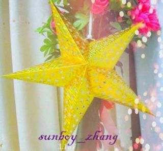 Lantern Light Decoration Flash Star Sparkly wedding party 24 Golden