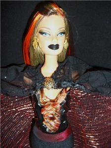 Autumn Harvest Moon Witch barbie doll ooak gothic