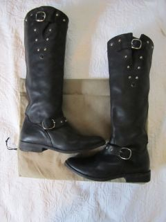 GOLDEN GOOSE DISTRESSED DELUXE BRAND KATE MOSS BLACK MOTORCYCLE BOOT
