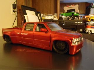 Jada 1 24 1999 Chevy Silverado Dooley Custom Painted Wheels Sweet