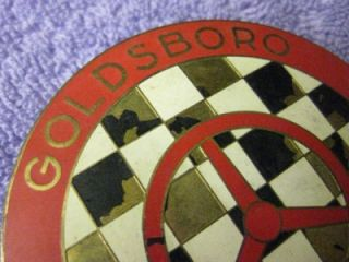 60s Goldsboro Sports Car Club Grille Radiator Badge Emblem Scca