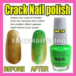New Nail Art Crack Green Nail Polish Varnish F279