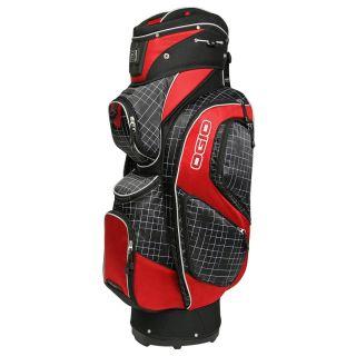 Ogio Golf 2011 Spry Hybrid Cart Bag Black Griddle Red Golf Bag